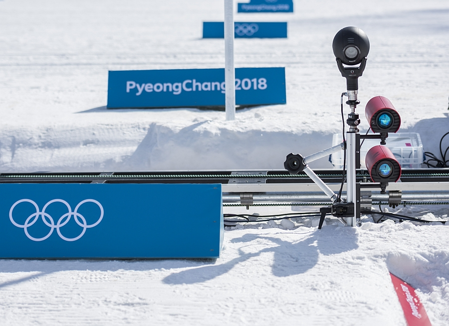 Omega timekeeping at winter olympics 2018.