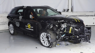 Range Rover velar crash test. Photo: Euroncap