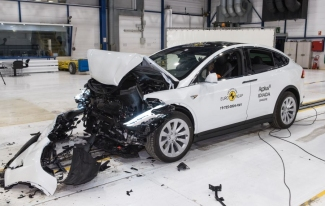 Tesla Model X after crash test.