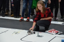 Kostivere girls team robot at Robotex 2016. Photo by Kaido Einama